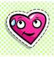 shy red heart vector image vector image