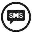 sms message rounded icon rubber stamp vector image
