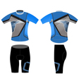 Sportswear cyclist vector image vector image