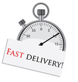 Stopwatch fast delivery vector image vector image