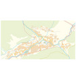 street map capital andorra andorra la vella vector image vector image