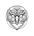 tribal geometric owl vector image