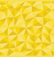 yellow crumpled paper with geometric seamless vector image vector image