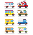 car and truck icon set vector image