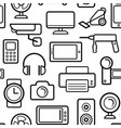 seamless pattern of electrical engineering vector image