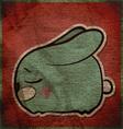 Animal grunge card with funny cartoon rabbit vector image
