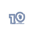 10 years anniversary template with blue col