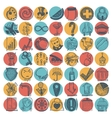 49 hand drawing doodle icon set vector image