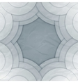 Abstract white and grey round shapes background vector image vector image