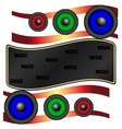 abstraction multicolored acoustic speakers vector image