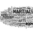 advanced military technology in the martial arts vector image vector image