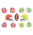 american football collection vector image vector image
