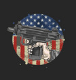 american hand use weapon vector image vector image