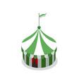 amusement park striped tent isometric 3d element vector image vector image