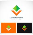 arrow shape colored business logo vector image vector image
