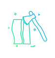 axe wood cutter icon vector image vector image