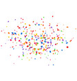 bright colorful confetti isolated on white vector image vector image