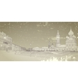 Card with image of the Russian city vector image vector image