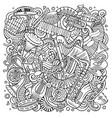 cartoon doodles classic music vector image vector image