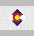 colorado flag state diamond vector image vector image