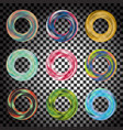 colorful transparent rosette or circle set vector image vector image