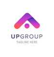 creative up group company logo business branding vector image vector image