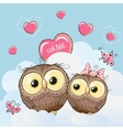 Cute Lovers Owls vector image vector image