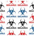 Ebola danger signs seamless pattern vector image vector image