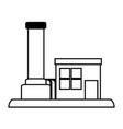 factory cartoon silhouette vector image vector image