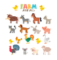 Farm animals set Cute cartoon animals vector image vector image
