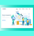 finance management website landing page vector image