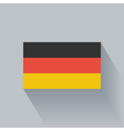 Flat flag of Germany vector image vector image