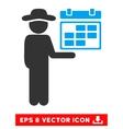 Gentleman Schedule Eps Icon vector image vector image