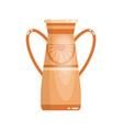 greek vase in ancient style as template for vector image