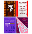 halloween hand drawn invitation or greeting cards vector image vector image