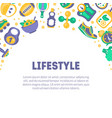 healthy lifestyle banner template with sports vector image vector image