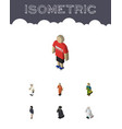 isometric people set of guy medic girl and other vector image