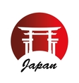 japanese culture architecture icon vector image vector image