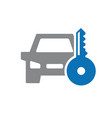key car icon automobile alarm system vector image