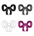 knot ribbon decoration and other web icon in vector image