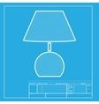 Lamp sign White section of icon on vector image