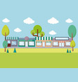 landscape with stores vector image