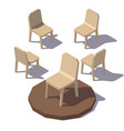 lowpoly monolithic chair vector image vector image
