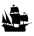 medieval ship icon black color flat style simple vector image vector image