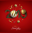 new year 2019 red holiday decoration in german vector image vector image