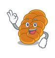 okay challah character cartoon style vector image vector image