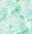 raspberry on green background seamless pattern vector image
