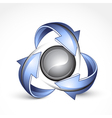 Recycle around yin yang vector | Price: 1 Credit (USD $1)