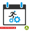 Running Worker Calendar Day Eps Icon vector image vector image