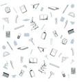 school utensils background vector image
